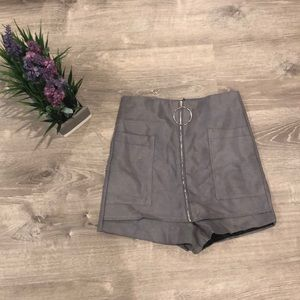 High waisted Grey Urban Outfitters Shorts/Skort